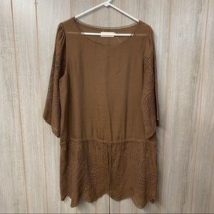 4loveandliberty Cotton Lace Tunic with Drop waist